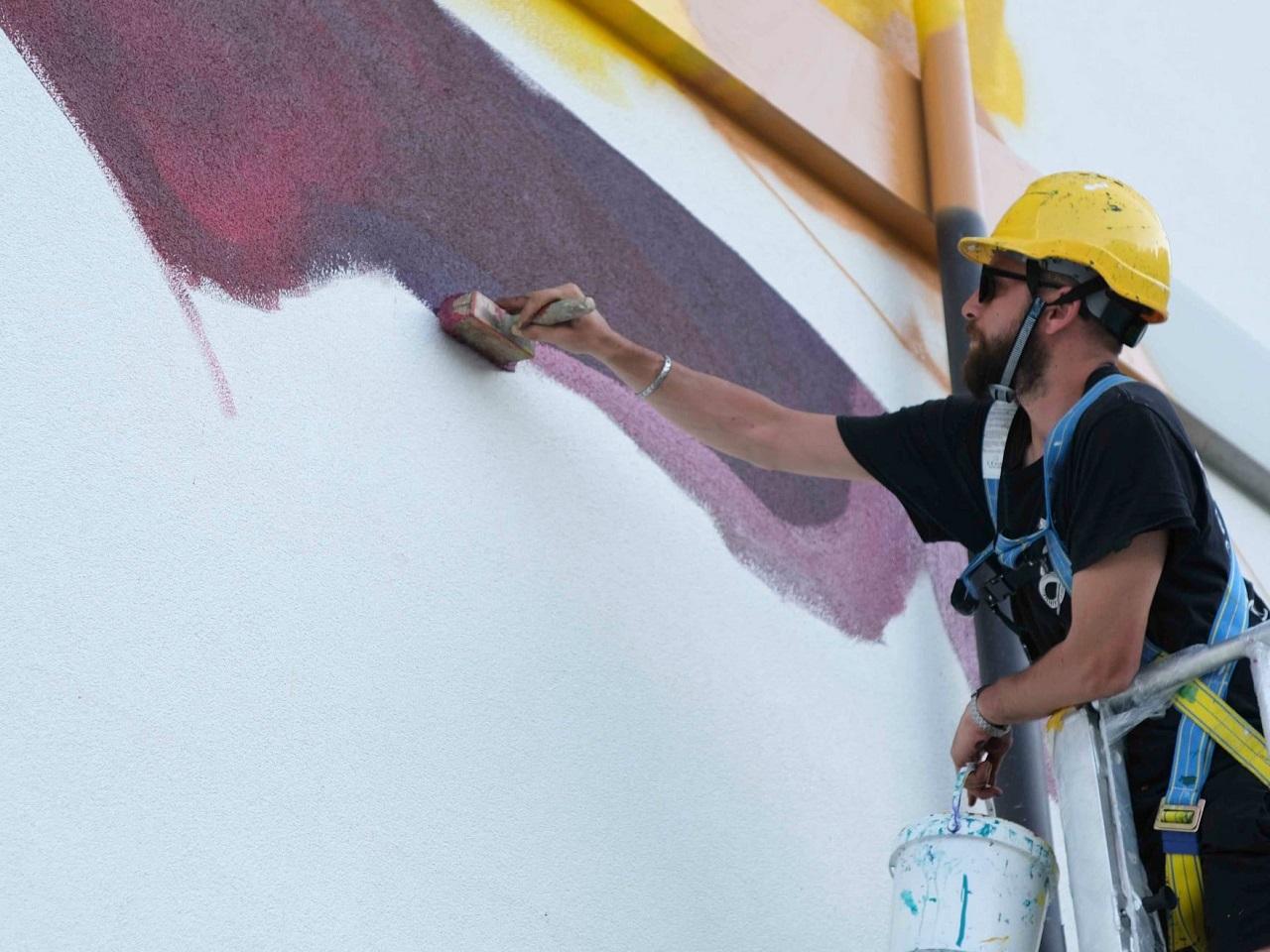 Giorgio Bartocci al lavoro (foto di Giacomo Colonnelli per PopUp festival)