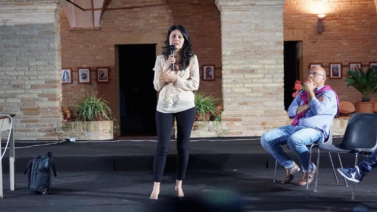 L'assessore Glorio con il sindaco Pugnaloni alla presentazione