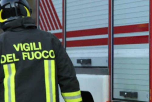 Fano, incendio in un terreno comunale: sul posto i Vigili del Fuoco
