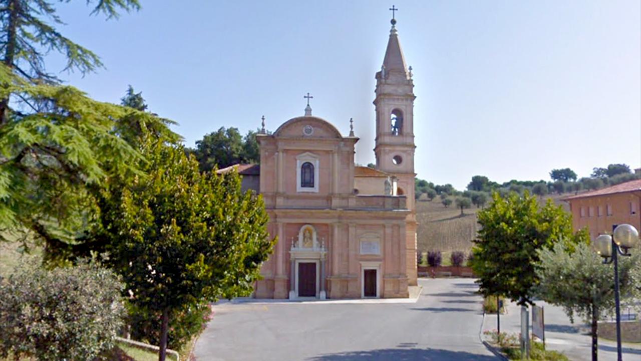 Il santuario Madonna della Rosa, a Ostra