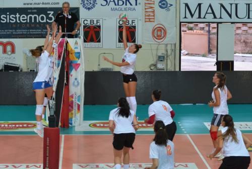 Volley femminile, la Cbf Balducci Macerata fa sul serio. Positivo il derby con San Giovanni in Marignano