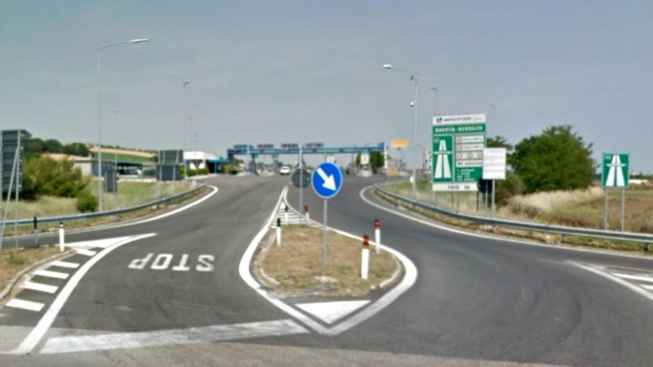 Il casello autostradale Marotta Mondolfo