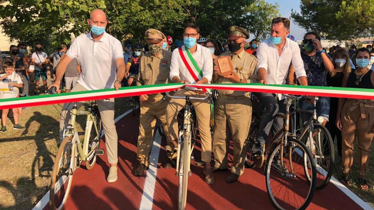 Inaugurato un nuovo tratto di ciclopedonale a Marotta
