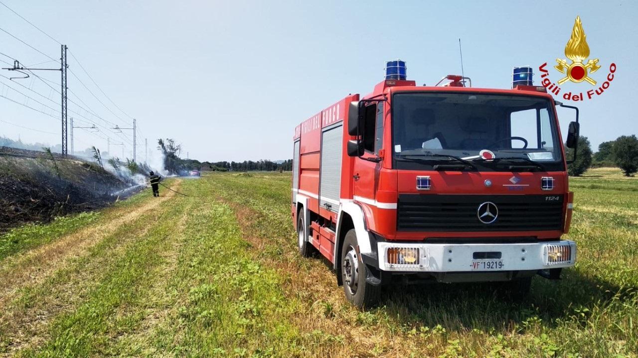 I pompieri al lavoro