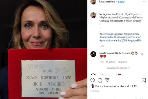 Lucia Mascino premiata come miglior attrice della stagione: «Onorata e felice»