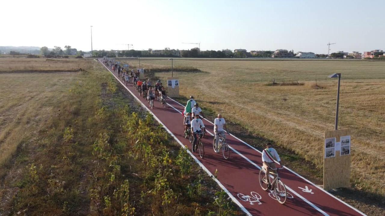 La nuova ciclopedonale a Marotta