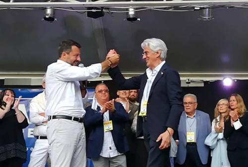 Salvini a Macerata: «Questo giro è un voto fondamentale per la città e per la Regione»