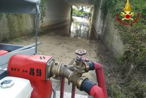 Maltempo in Vallesina: alberi caduti sulle strade, sottopassi allagati e famiglie isolate