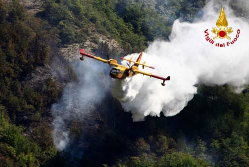 Incendi boschivi nelle Marche, la task force dei vigili del fuoco: «Bene segnalare, prima si interviene minori i danni»