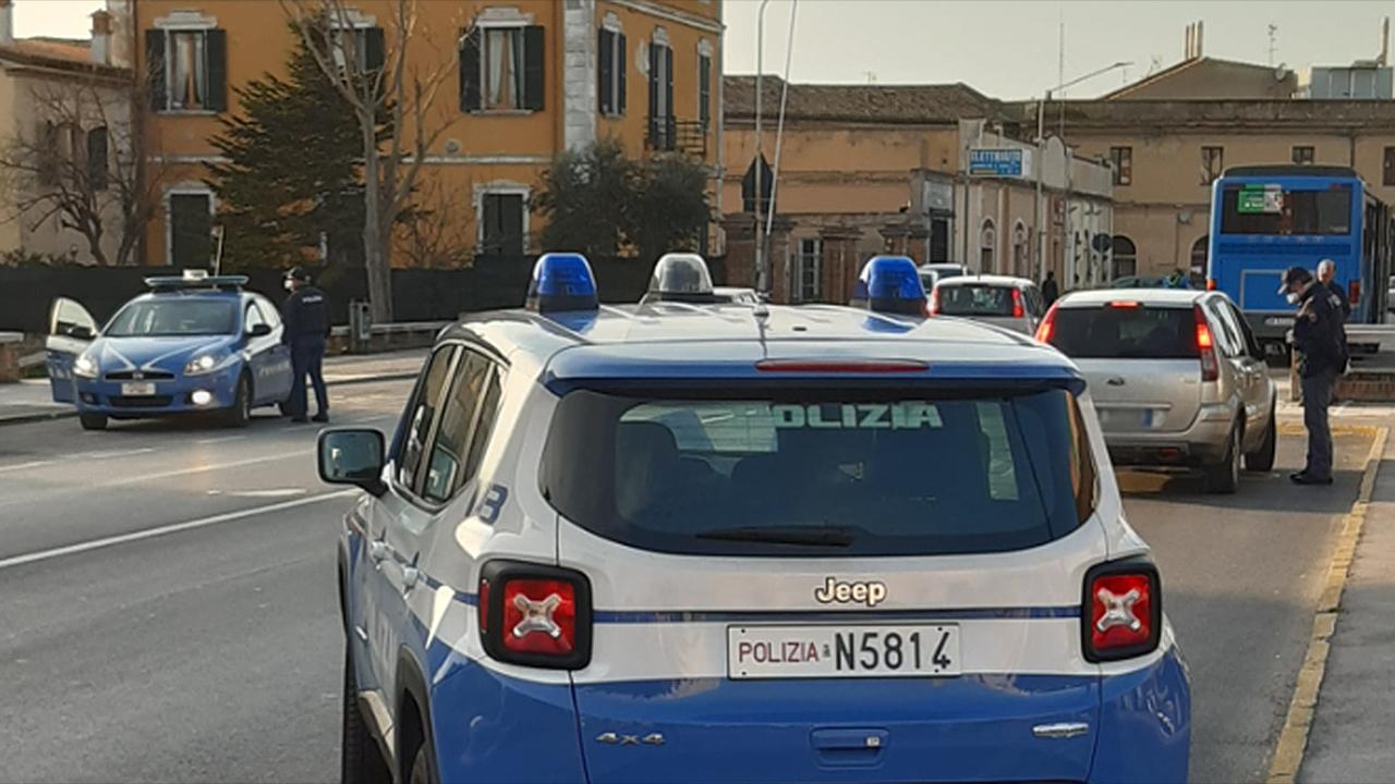 I controlli della polizia di Senigallia
