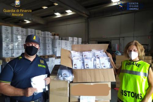 Ancona, sequestrate 10mila mascherine. Omessa l'indicazione di provenienza