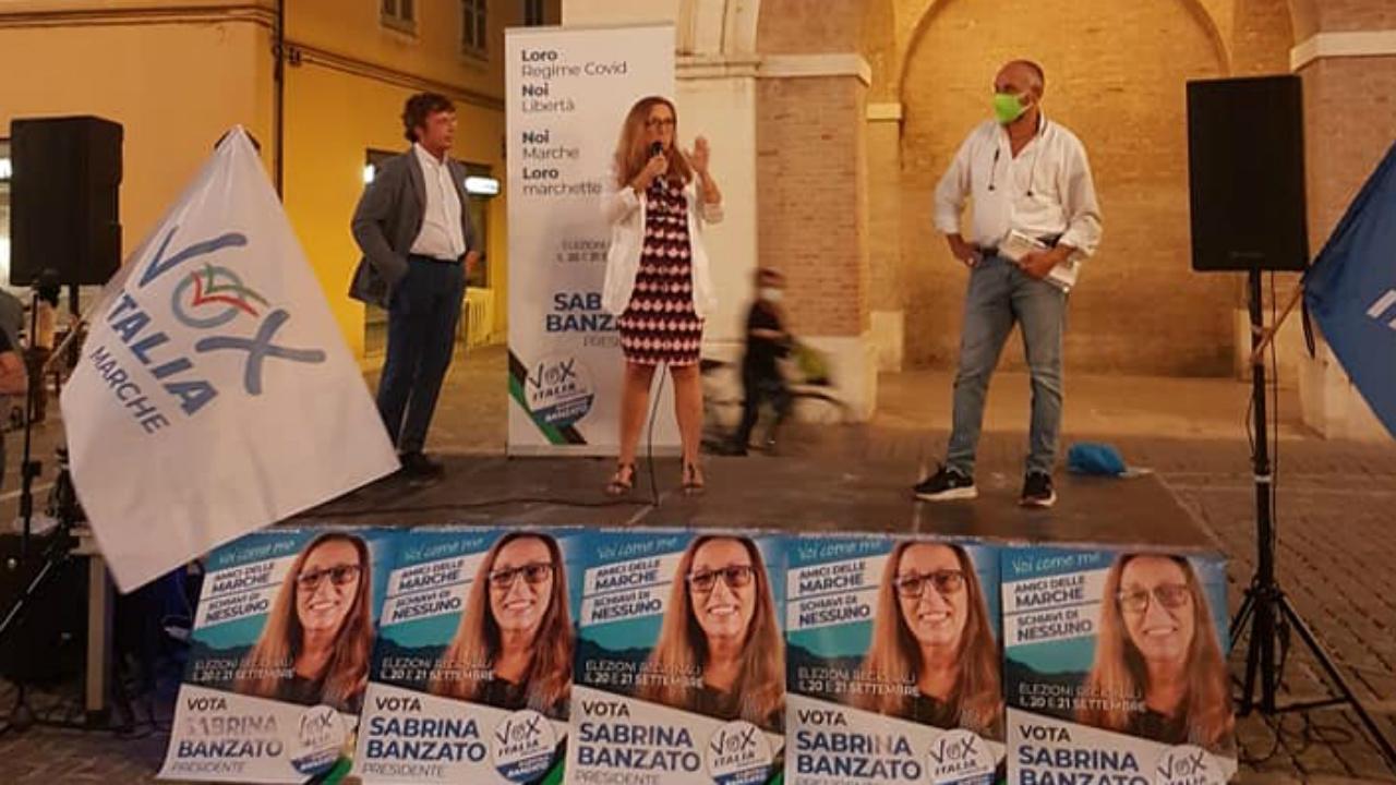 A Fano la chiusura della campagna elettorale di Vox Italia-Marche con Diego Fusaro