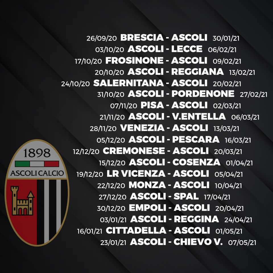 Calendario Ascoli 2021 Uscito il calendario di Serie BKT: si apre con Brescia Ascoli