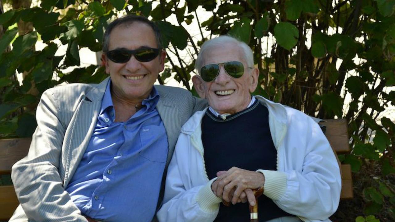 Giorgio Berrettini con il padre Diolete