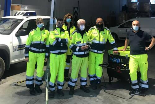 Montecassiano, consegnati generatore e torre faro alla protezione civile