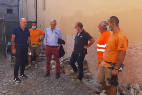 Corso Matteotti, si parte: Bacci in visita al cantiere