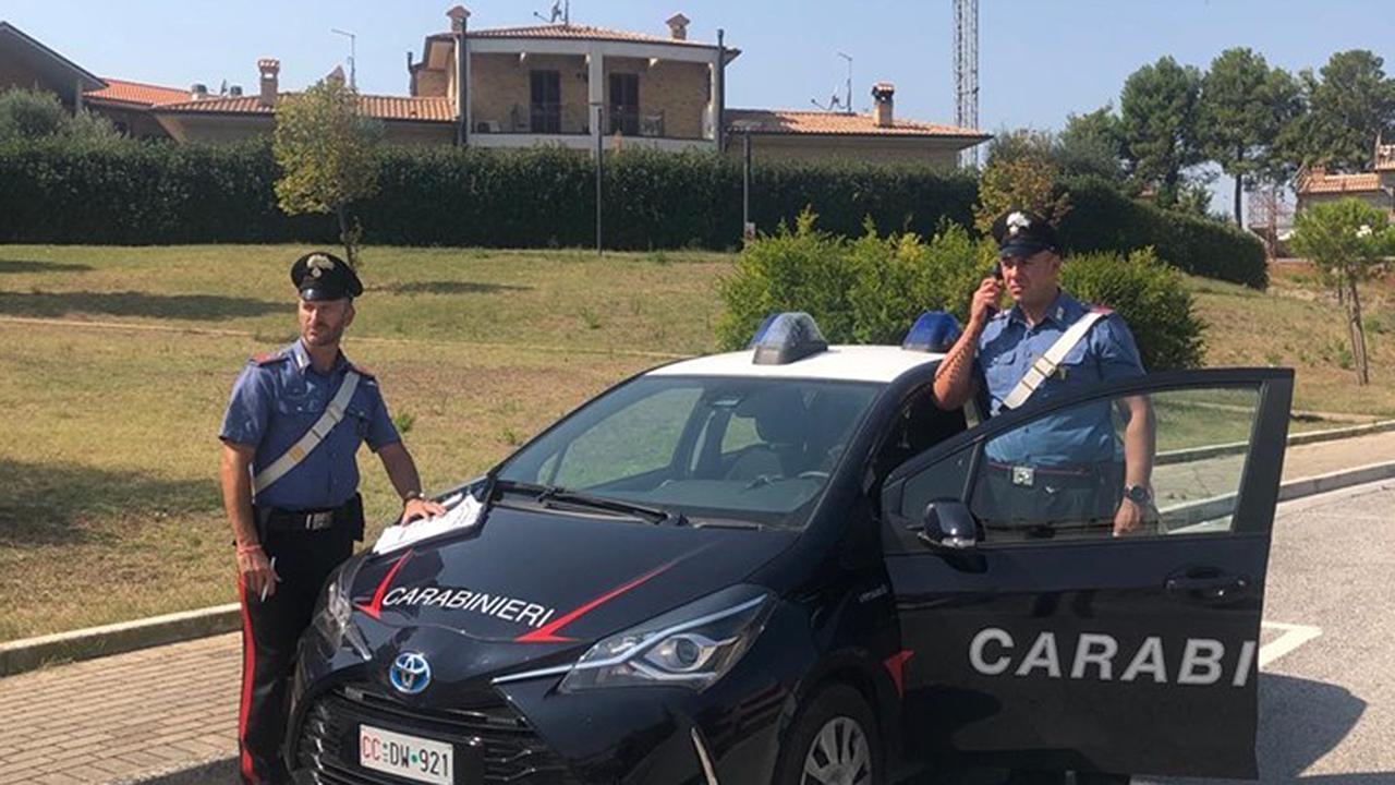 Il sopralluogo dei carabinieri di Senigallia