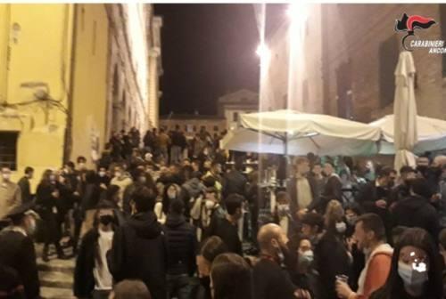 Jesi, movida del sabato sera: maxi controlli dei carabinieri con raffica di sanzioni. Il sindaco: «Serve responsabilità»