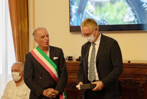 Visita di Ceriscioli nel cantiere del nuovo ospedale di Amandola: «Qualità per il territorio montano»