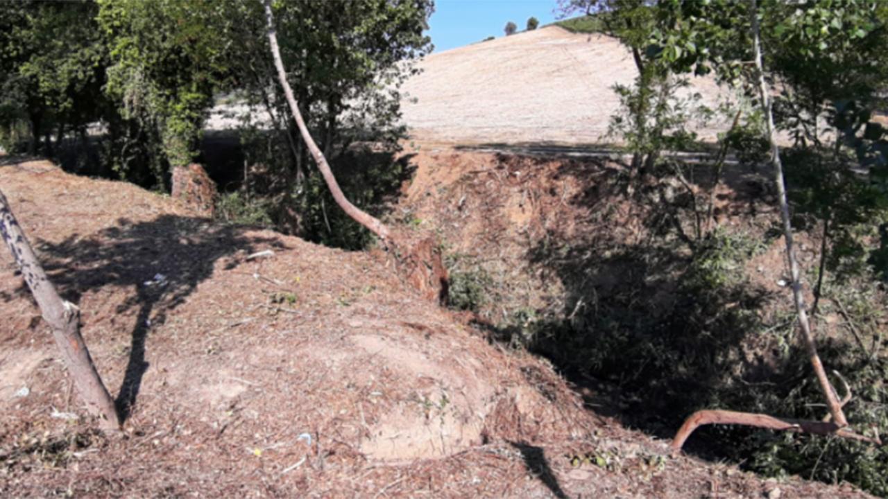 La manutenzione dei fossi a Corinaldo