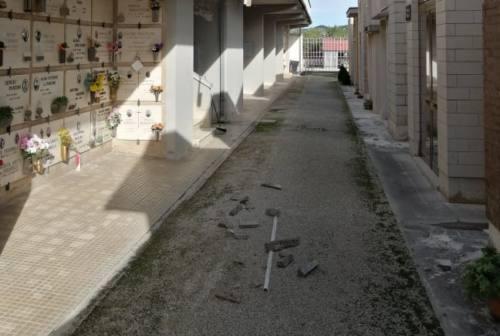 Fabriano: ancora crolli nel cimitero di Santa Maria