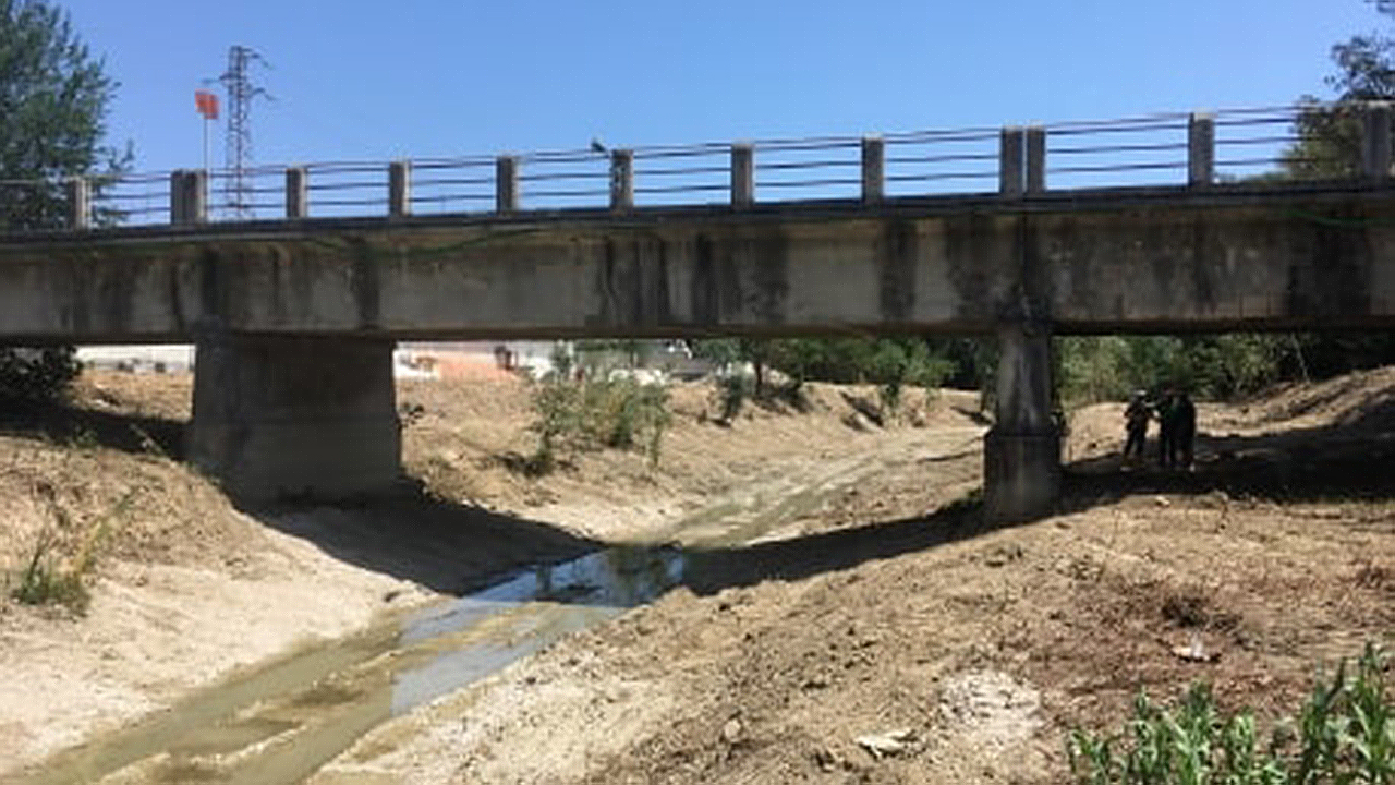"""Il ponte sul torrente Nevola in località Passo Ripe di Trecastelli, sulla strada provinciale 18 """"Jesi Monterado"""""""