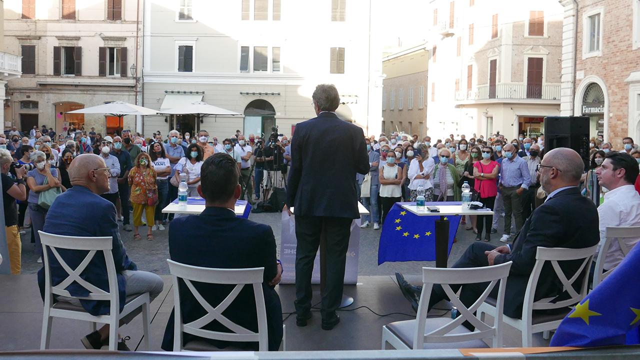 L'intervento di David Sassoli a sostegno dei candidati di Senigallia alle comunali e regionali 2020