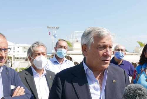 Antonio Tajani a Senigallia: «Senza Forza Italia non si vince, garanzia per il centrodestra»