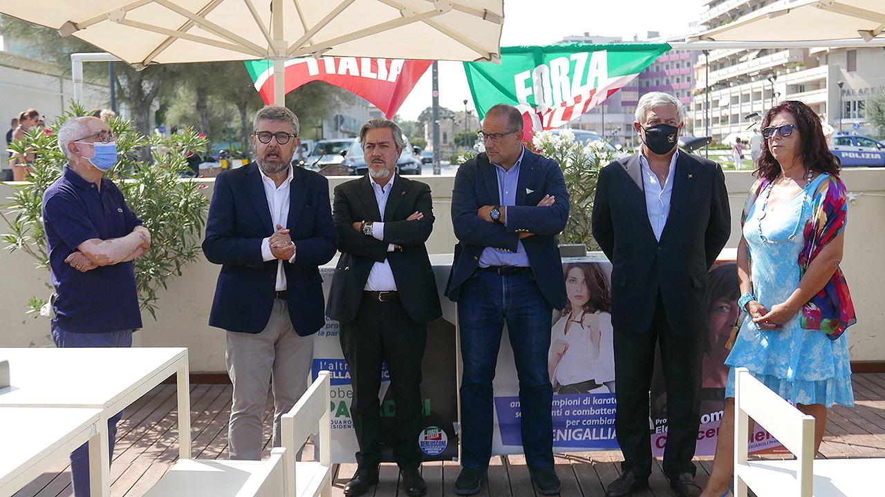 L'intervento del candidato sindaco del centrodestra Massimo Olivetti