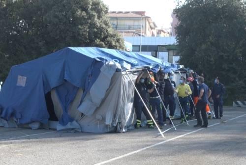 Ad Ancona, il primo dei 5 Drive-through militari per i tamponi