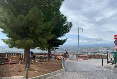 Osimo, partiti i lavori alla balconata dei Tre pini