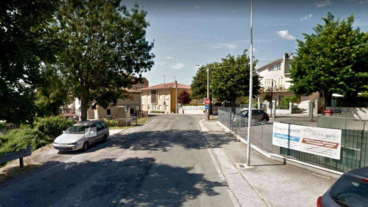 Viale Gramsci a Mondolfo