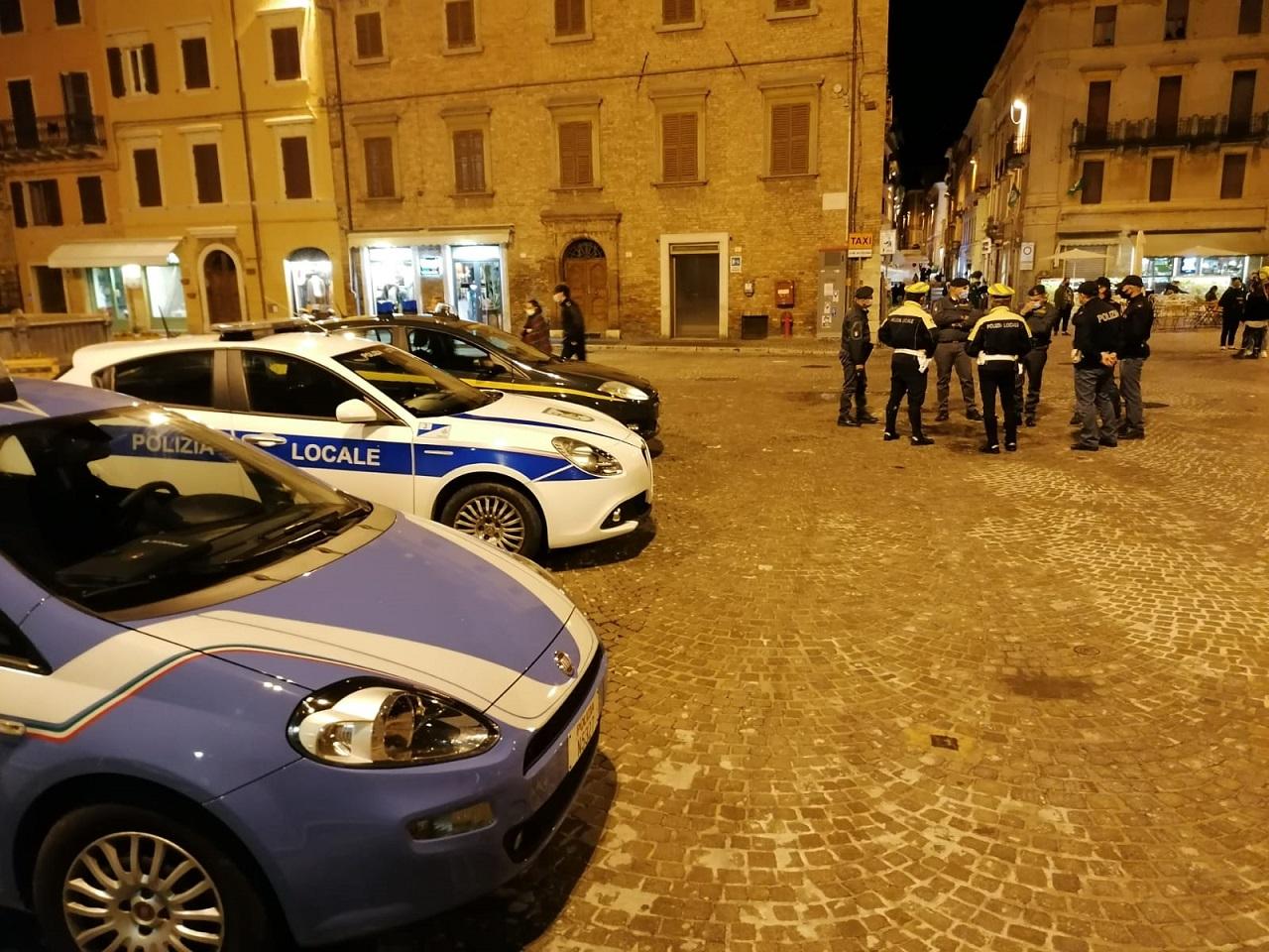 I controlli di sabato in centro a Osimo