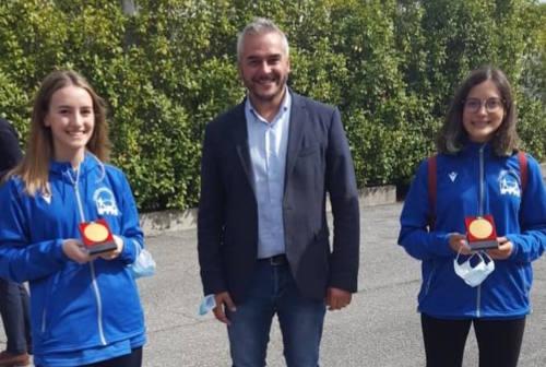 """Scherma, progetto """"Incentivazione allo studio"""": premiate le fabrianesi Alice Armezzani ed Eleonora Gubinelli"""