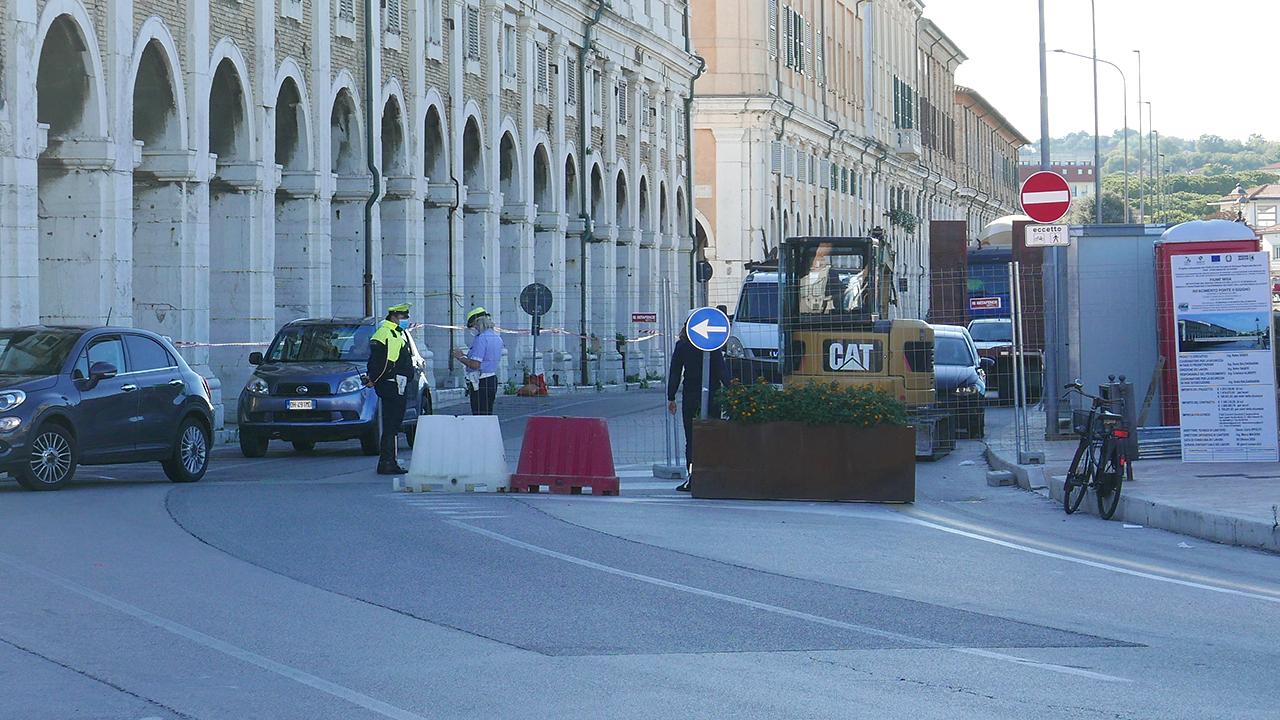Viabilità modificata a Senigallia per i lavori su ponte II Giugno