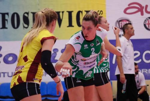 Volley, la Megabox Vallefoglia espugna Ravenna e si issa in vetta alla classifica