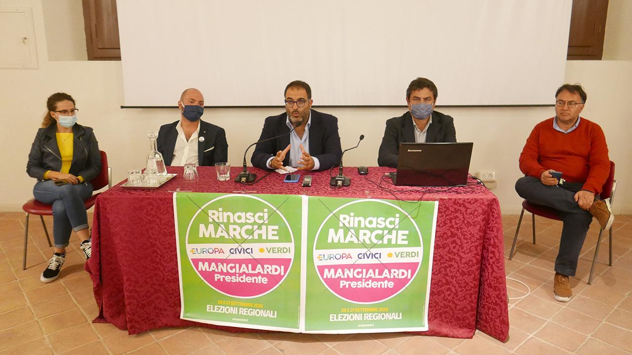 I vertici di Rinasci Marche riuniti a Senigallia per analizzare il voto delle elezioni regionali 2020