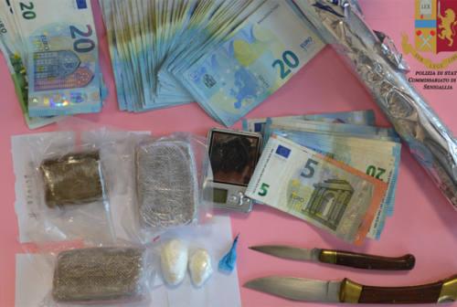 Il bazar della droga in casa, un arresto a Senigallia