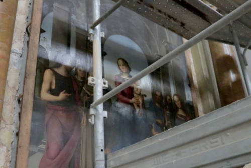 """Fano, la Pala e la Lunetta del Perugino a Firenze per un """"lifting"""""""