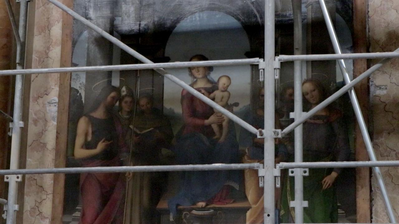 La Pala e la Lunetta del Perugino