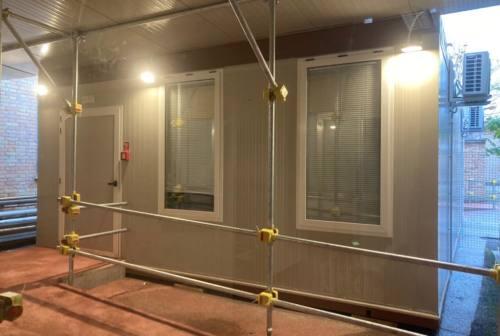 Ospedale di Fabriano, operativo il modulo esterno per le osservazioni brevi di possibili positivi al Covid