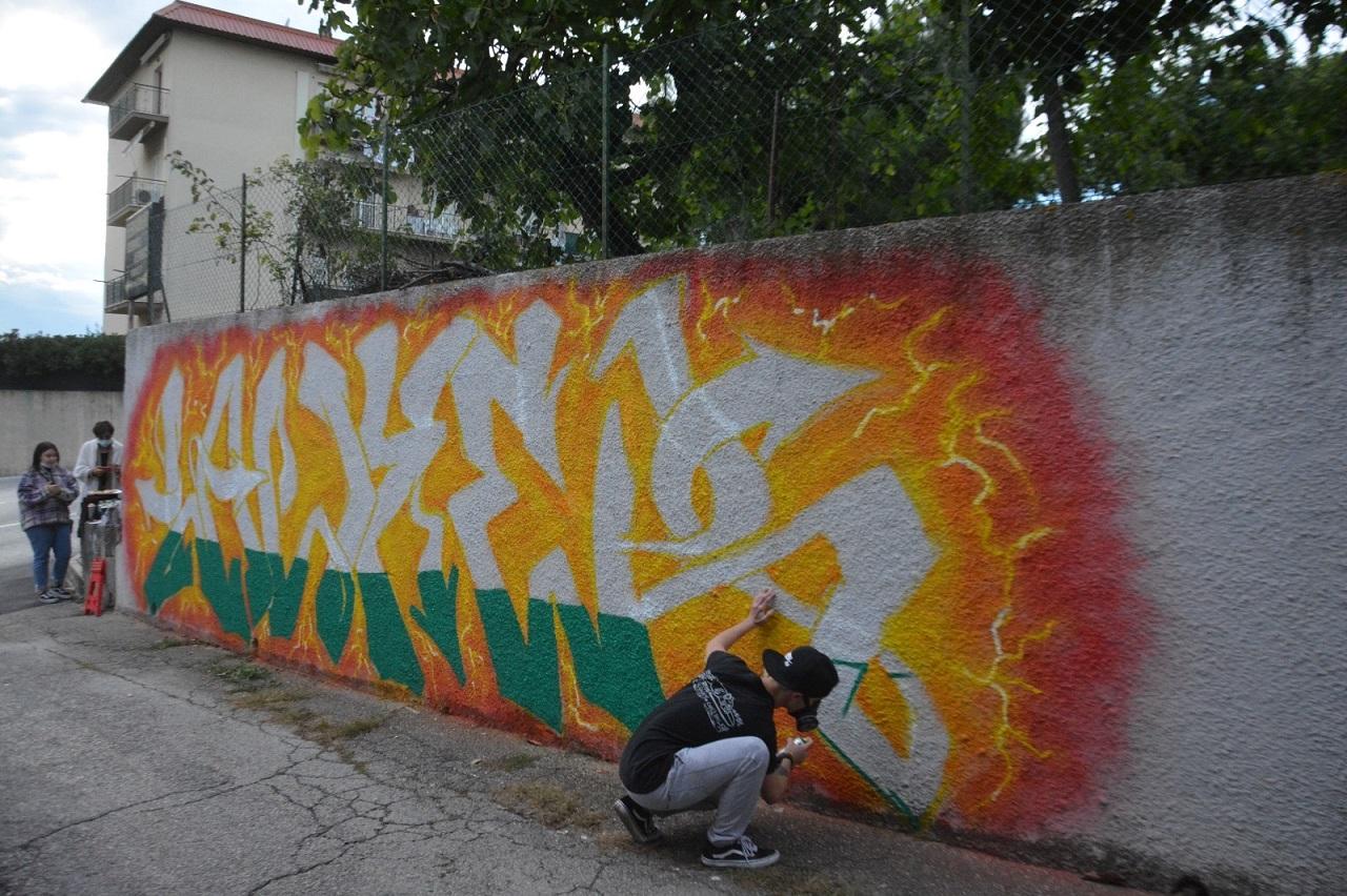 Il murales per Elia