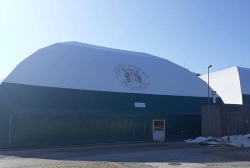 Terminati i lavori al Cus Ancona, i due palloni geodetici sono pronti