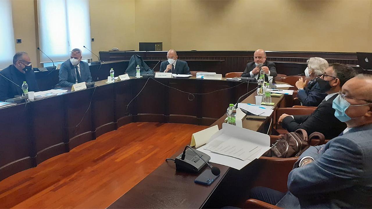 Presentato il bilancio preventivo 2021 della Camera di commercio delle Marche, alla presenza dell'assessore regionale Guido Castelli