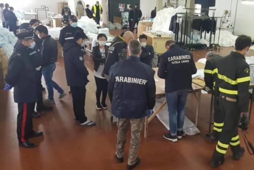 Lavoro nero, blitz dei carabinieri in due laboratori tessili a Ostra e Montemarciano: sospese le attività e maxi multe
