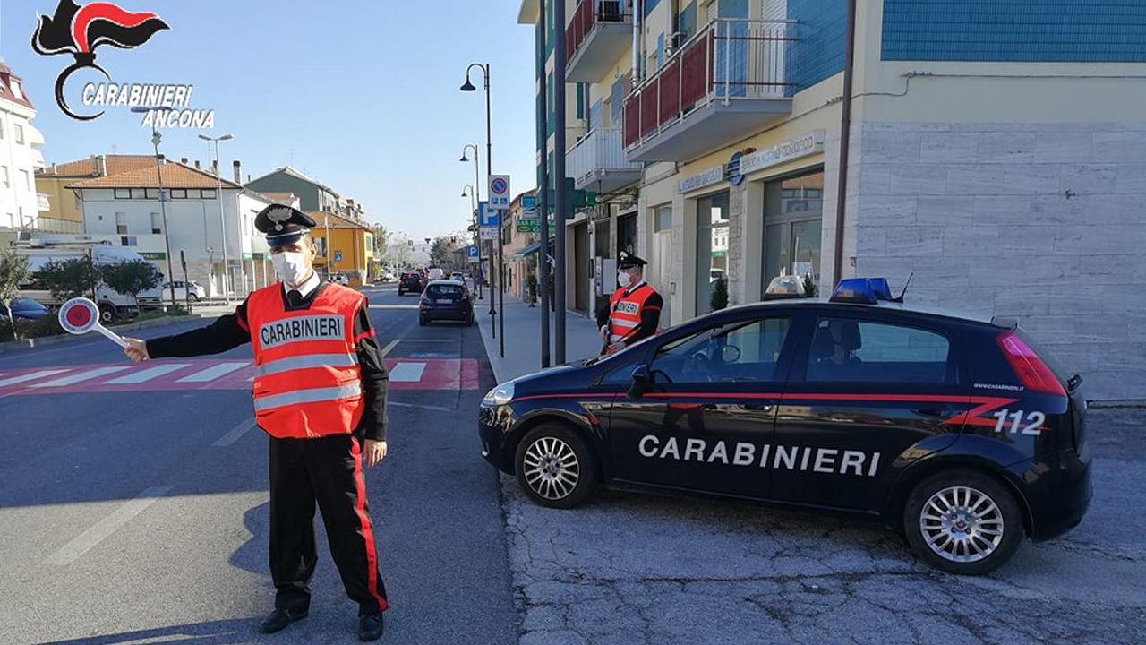 I controlli stradali e sulle norme anti covid da parte dei Carabinieri a Montemarciano