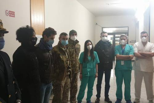 Covid-19, arrivati due medici e quattro infermieri militari nelle case di riposo del Maceratese