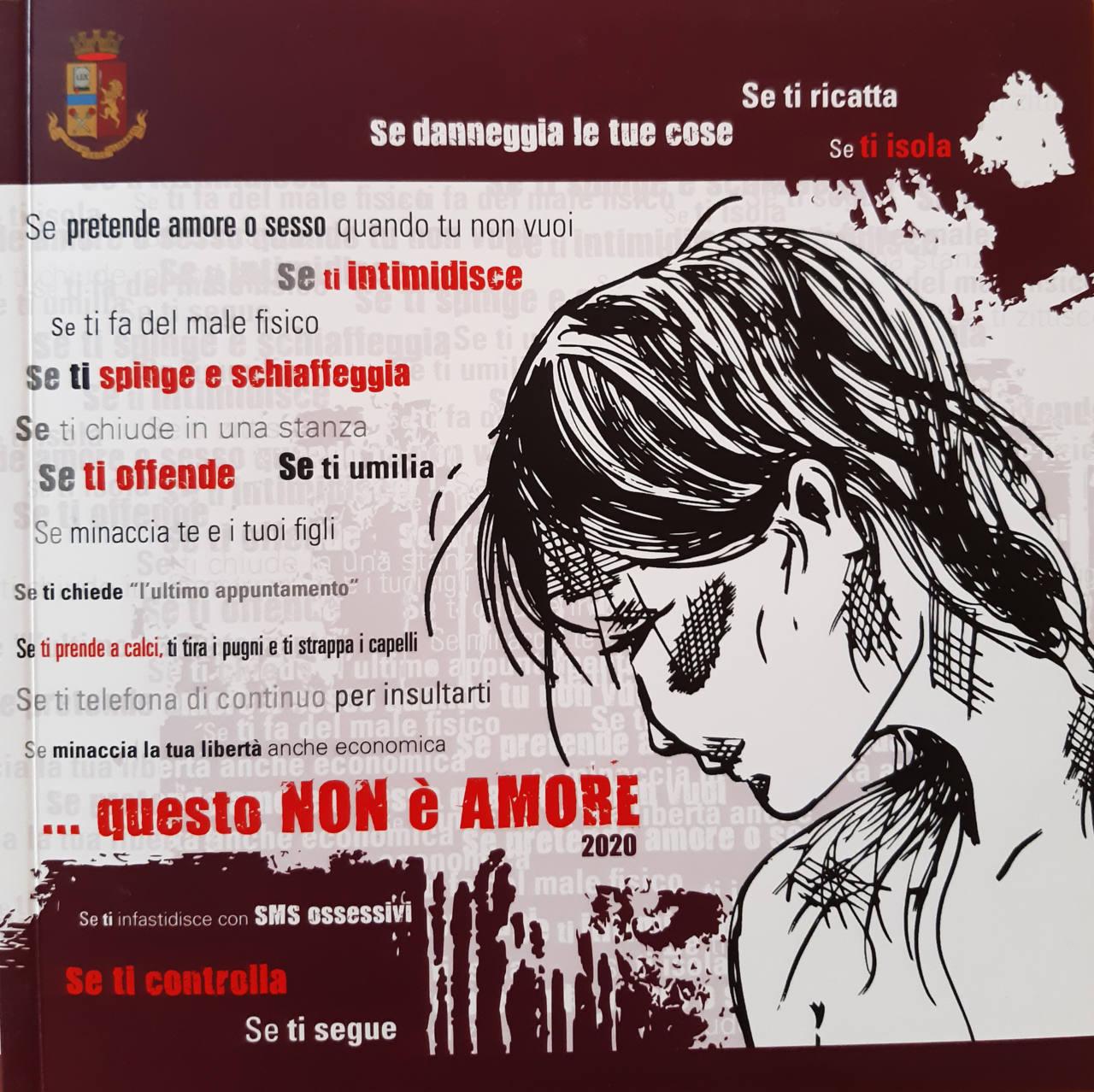 """È stato distribuito il nuovo opuscolo del progetto """"Questo non è amore"""", promosso dalla Polizia di Stato per aumentare la consapevolezza sulla gravità del fenomeno e fornire strumenti utili per le vittime"""