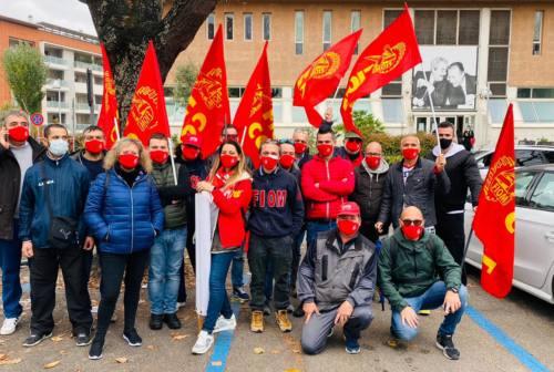 Anche a Pesaro  metalmeccanici in piazza per lo sciopero