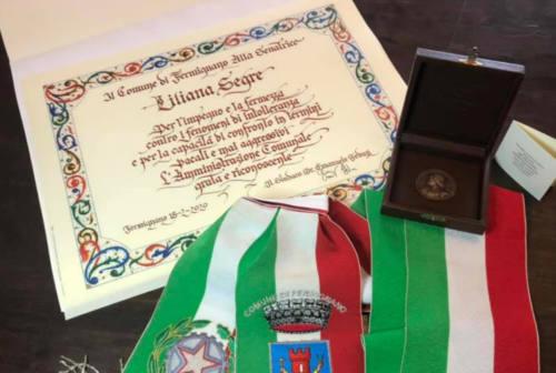 Liliana Segre è ufficialmente una cittadina fermignanese